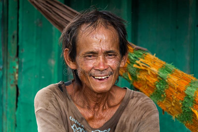 Vietnamesisches Mannporträt Ho Chi Minh City stockfotos