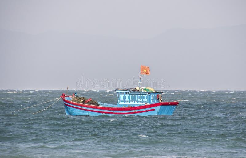 Vietnamesisk fisherboat, arkivbild