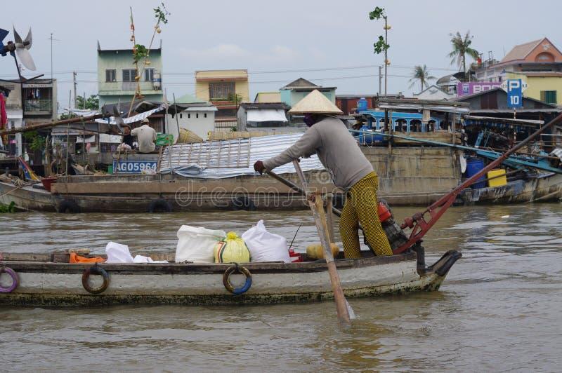 VietnamesMekong delta arkivbild