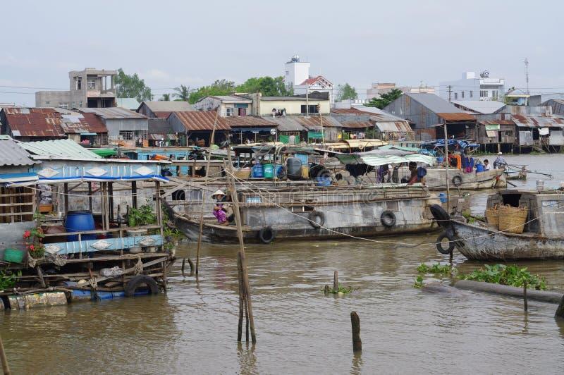 VietnamesMekong delta royaltyfri bild