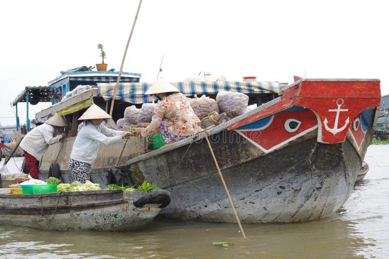 VietnamesMekong delta fotografering för bildbyråer