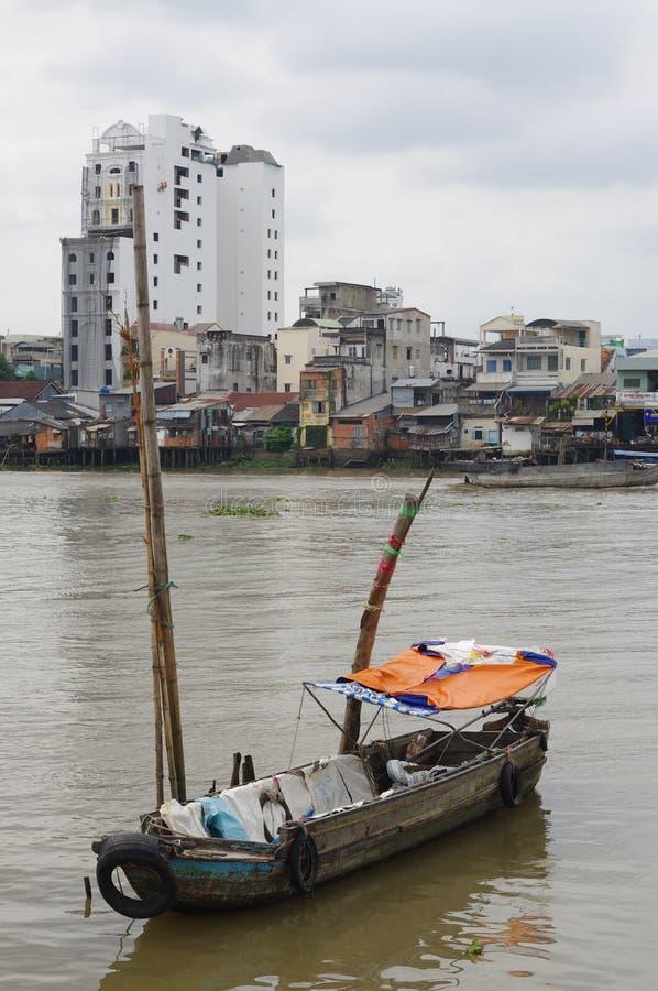 VietnamesMekong delta royaltyfria foton