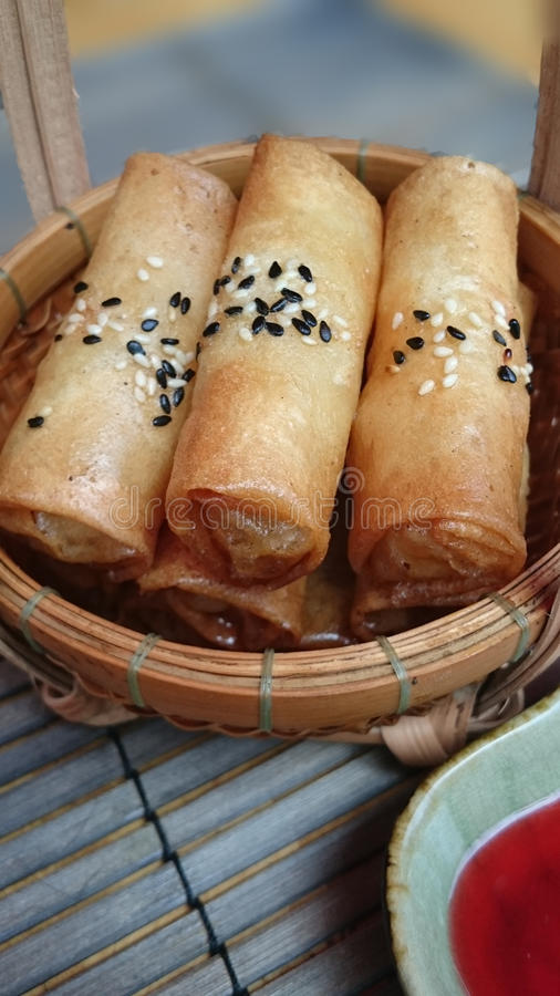 Vietnamita Fried Spring Rolls immagine stock libera da diritti