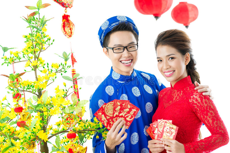 Vietnamita Tet fotografia stock