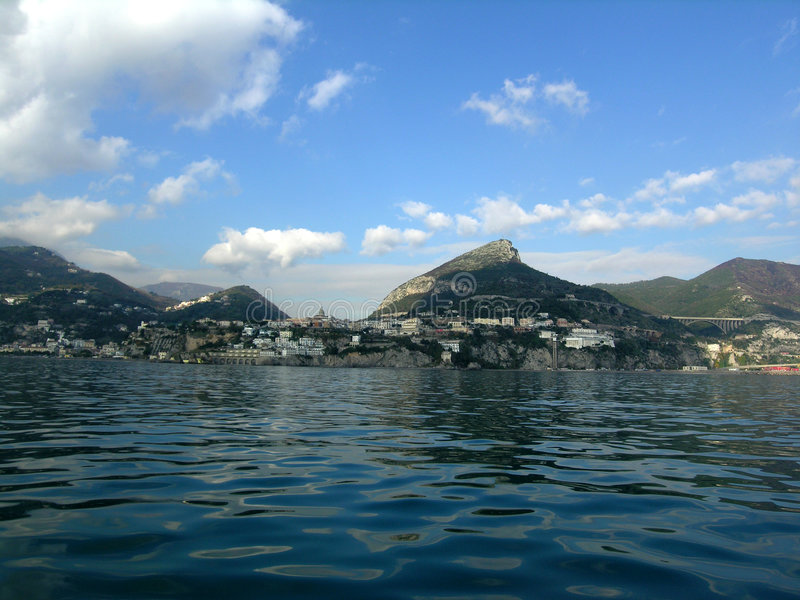 Vietri, amalfitan kust stock afbeelding