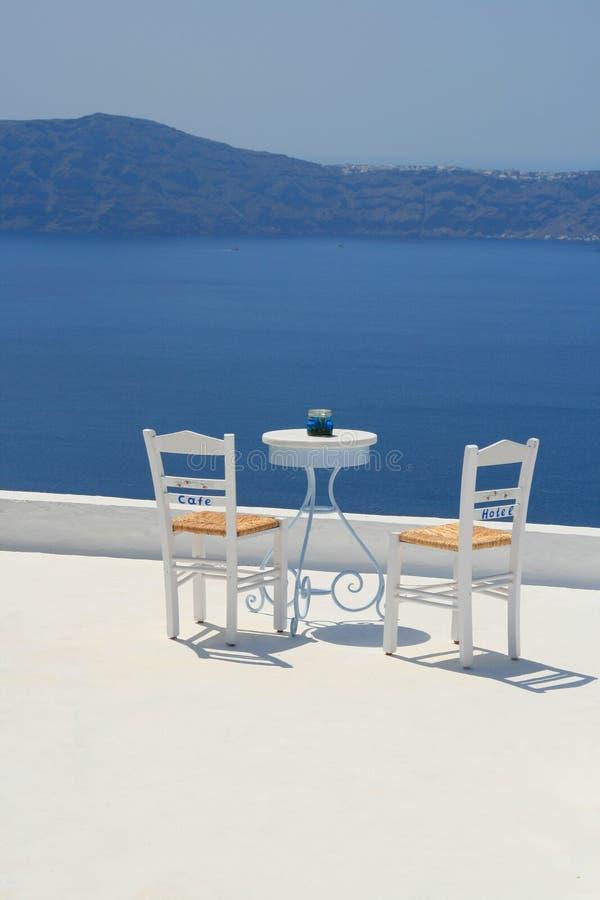 Vieuw de mer, Santorini image libre de droits