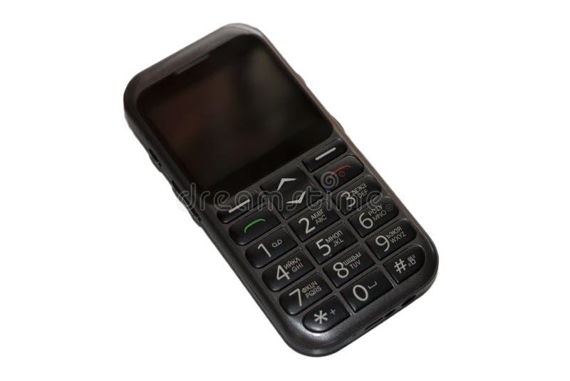 Vieux, à bouton-poussoir téléphone portable photos libres de droits