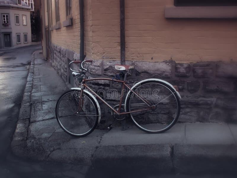 vieux Квебека велосипеда старое стоковое изображение