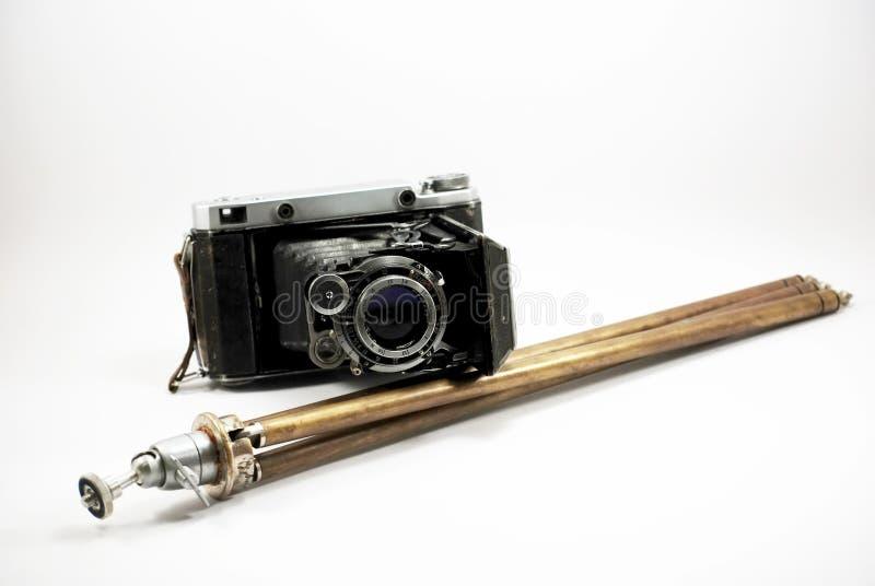 Vieux appareil-photo et support de photo de film