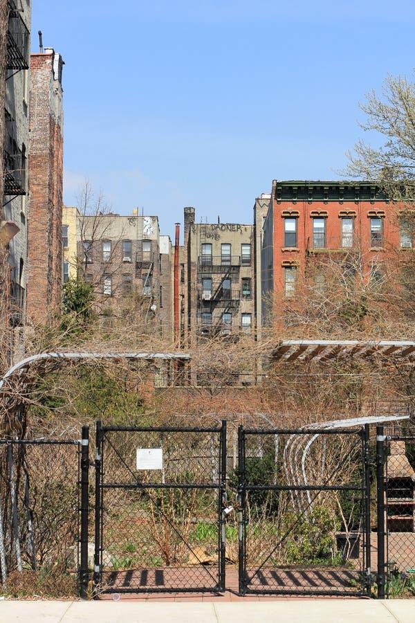 Vieux appartements de New York photo stock