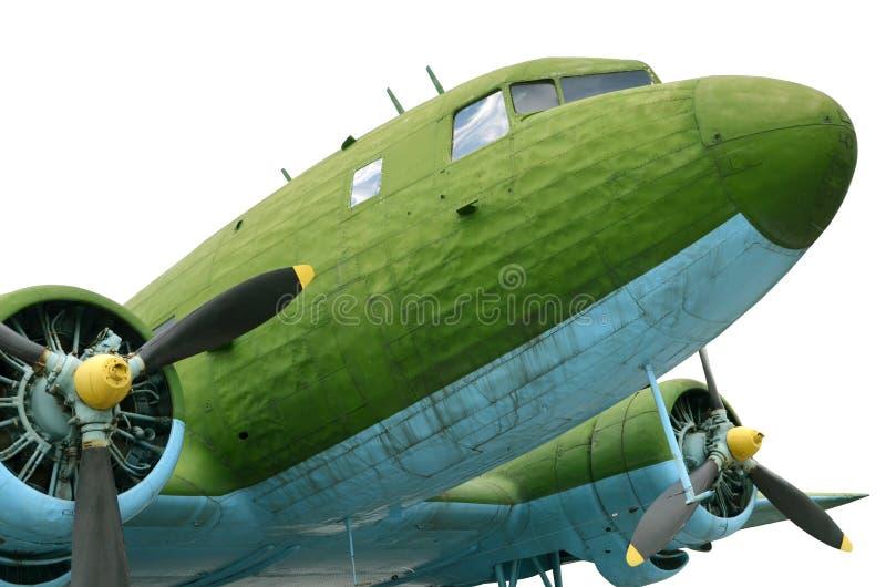 Vieux avions de vintage d'avion de propulseur photo stock
