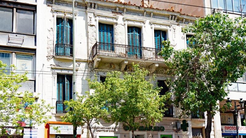 Vieux bâtiment, Athènes du centre, Grèce images libres de droits