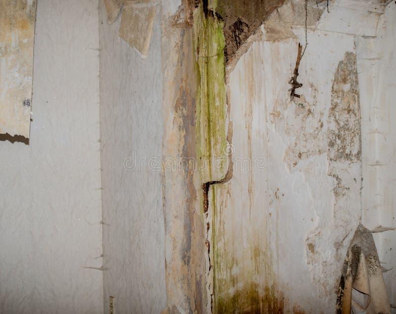 Vieux bâtiment d'endroit perdu avant le délabrement images stock