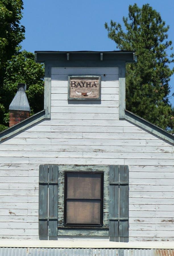 Vieux bâtiment dans Winthrop WA photos libres de droits