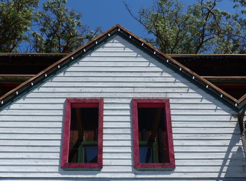 Vieux bâtiment dans Winthrop WA image libre de droits