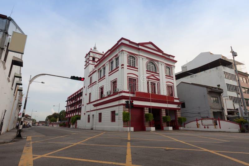Vieux bâtiment en George Town, Penang Malaisie image stock
