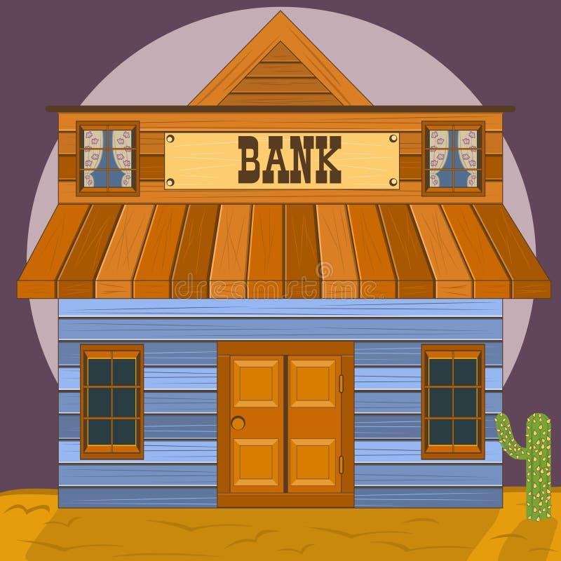Vieux bâtiment occidental - bureau de banque illustration libre de droits