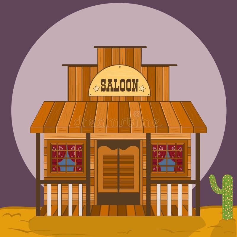 Vieux bâtiment occidental - shérif illustration libre de droits