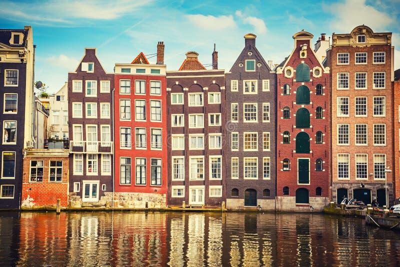 Vieux bâtiments à Amsterdam photo libre de droits