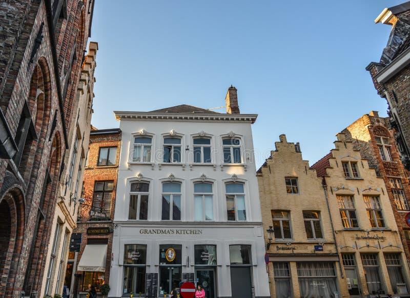 Vieux bâtiments à Bruges, Belgique photographie stock libre de droits