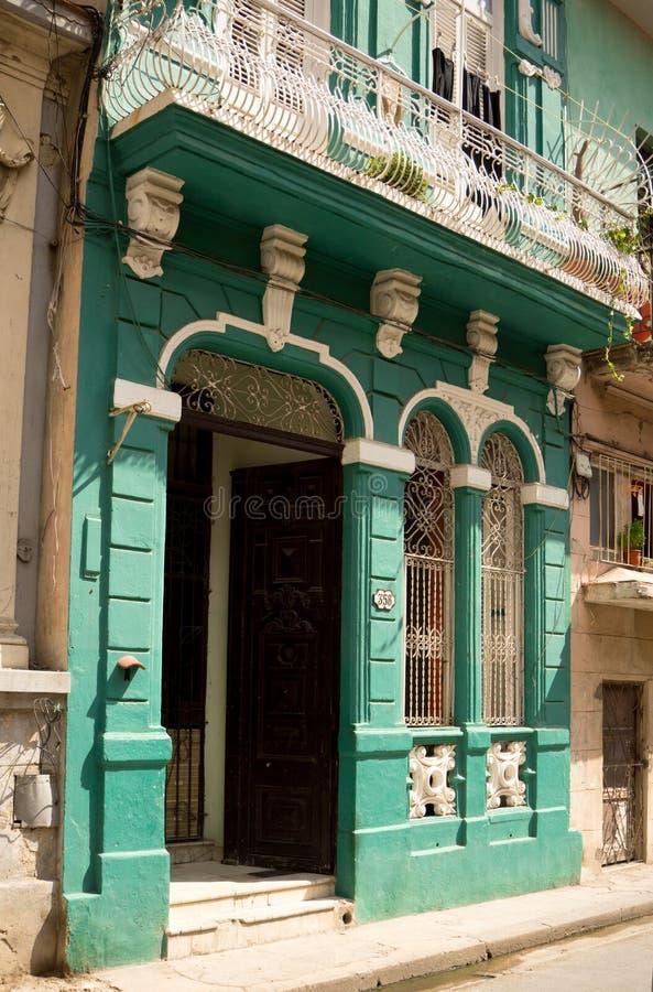 Vieux bâtiments à La Havane, Cuba images stock