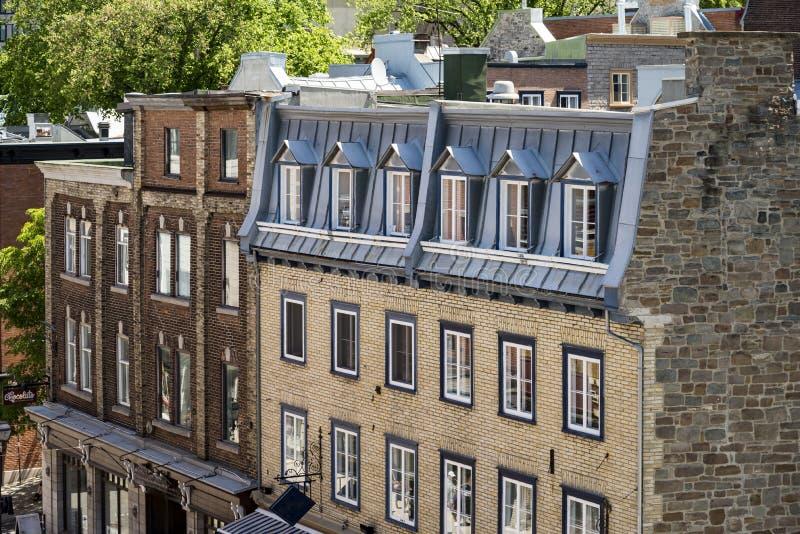 Vieux bâtiments colorés à Québec, Canada photo libre de droits