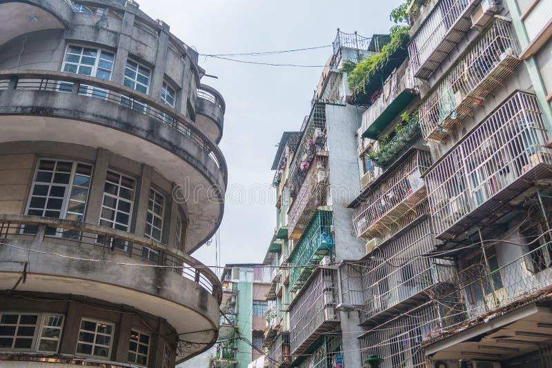 Vieux bâtiments dans Macao photo libre de droits