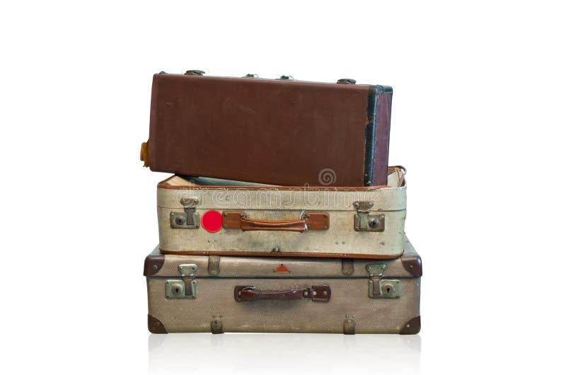 Vieux bagage photo stock