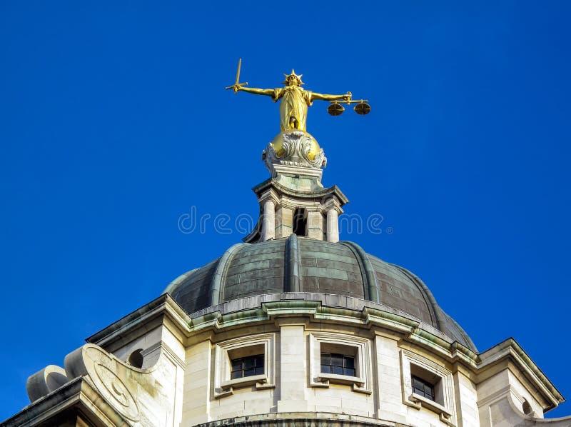Vieux Bailey Central Criminal Court photo stock