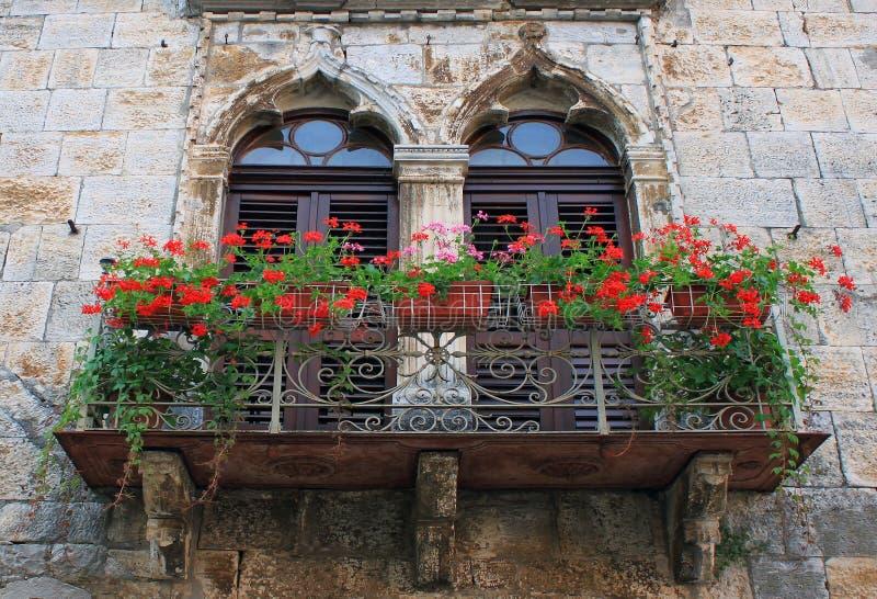 Vieux balcon images stock