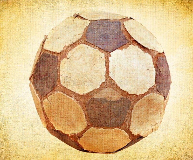 Vieux ballon de football illustration stock