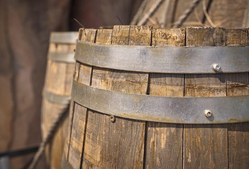 Vieux baril de vin photos libres de droits