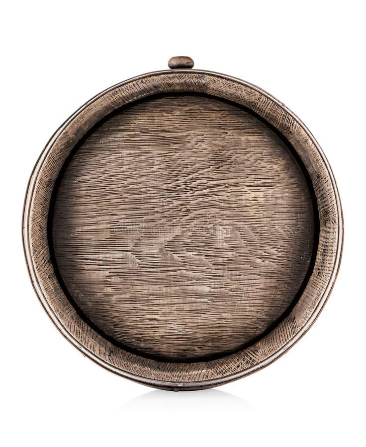 Vieux baril en bois de chêne photos stock