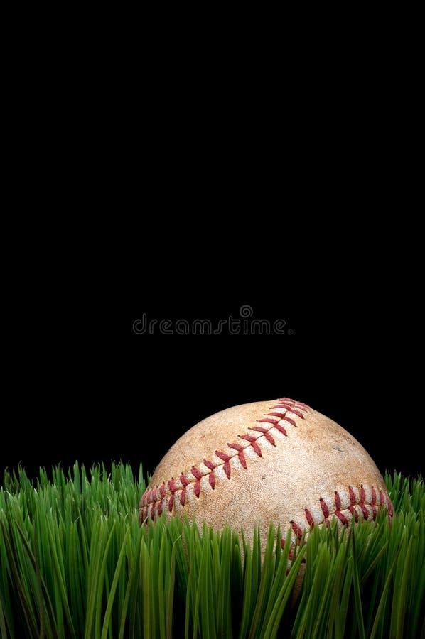 Vieux base-ball usé de sports photo libre de droits
