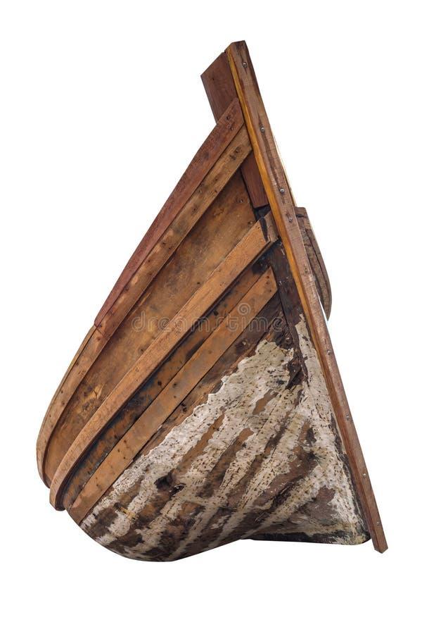 Vieux bateau à rames en bois traditionnel photo libre de droits