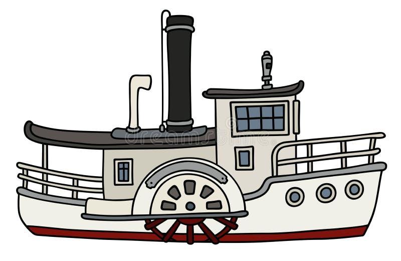 Vieux bateau à vapeur drôle de palette illustration de vecteur