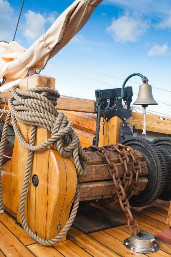 vieux bateau à voiles photo stock
