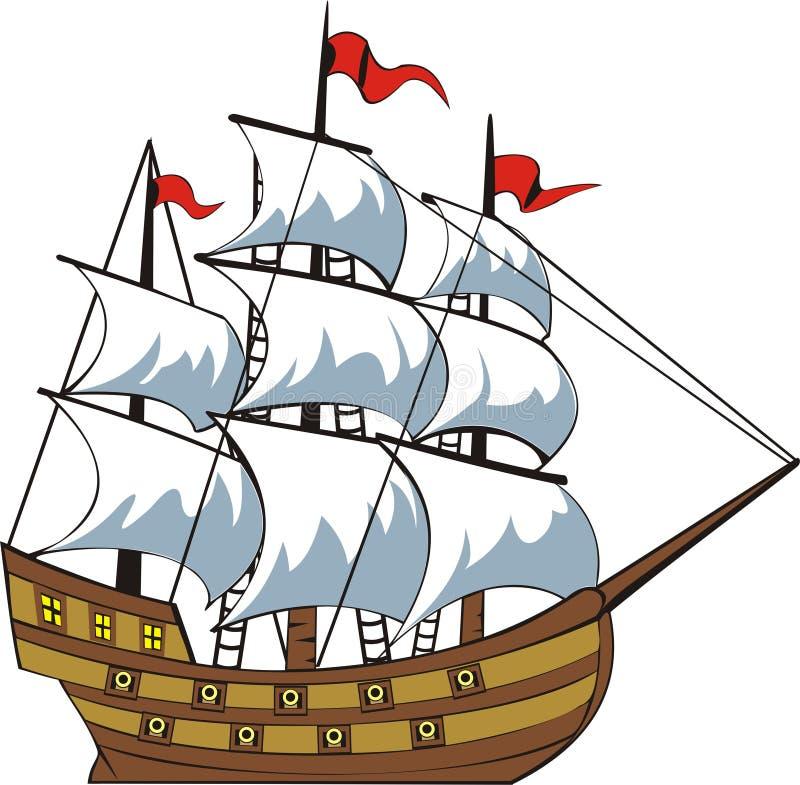 Vieux bateau illustration stock