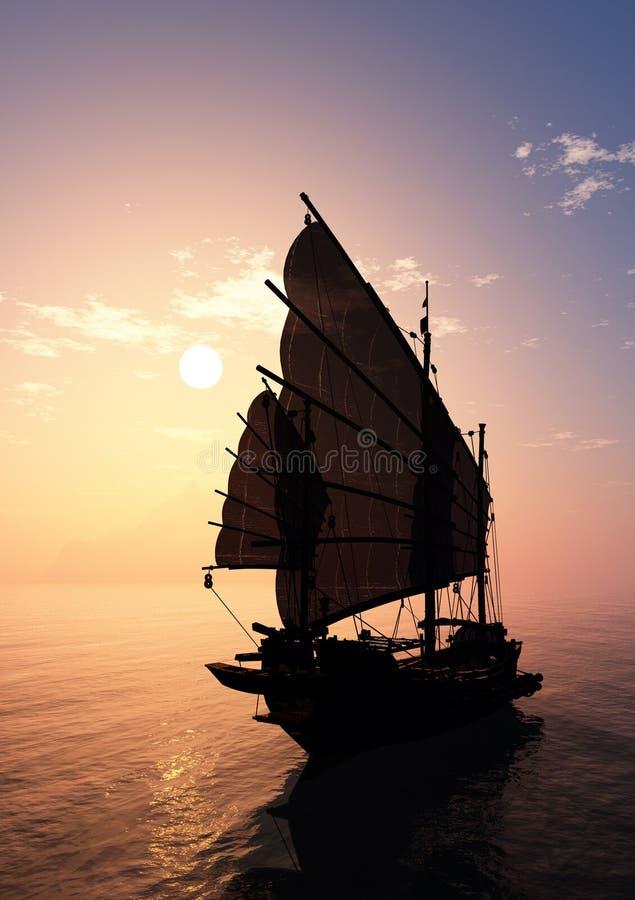 Vieux bateau illustration de vecteur