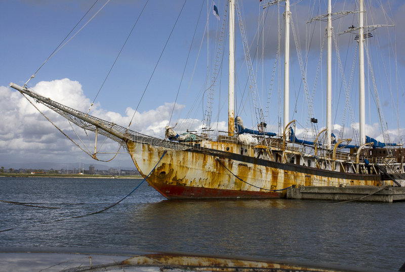 Vieux bateau image libre de droits