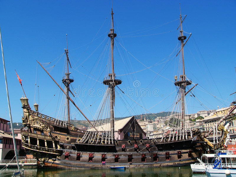 Vieux bateau de navigation photos libres de droits