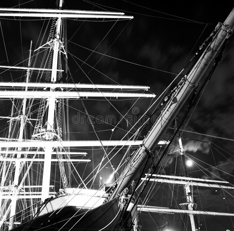 Vieux bateau de navigation, port maritime de mer du sud, New York photos stock