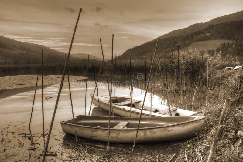 Vieux bateaux images libres de droits