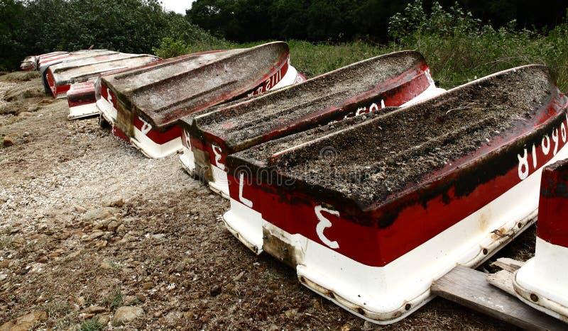 Vieux bateaux de location photos stock