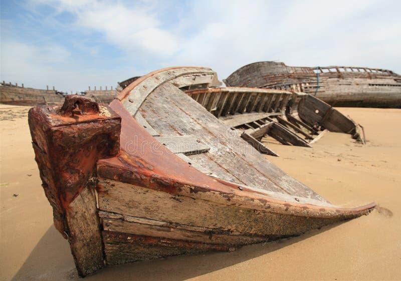 Vieux bateaux de pêche photographie stock libre de droits