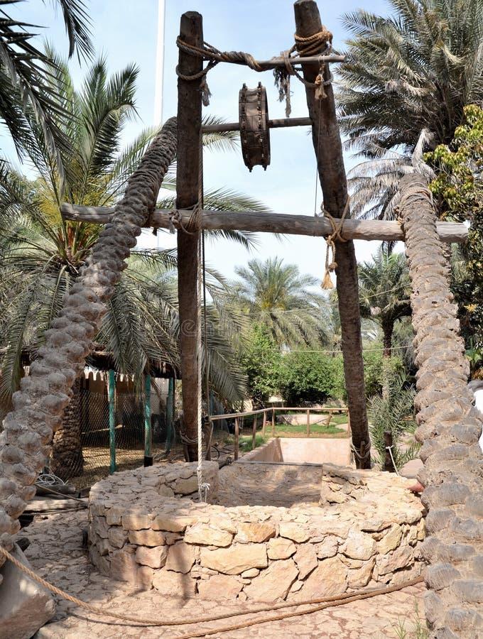Vieux bien en Abu Dhabi images libres de droits