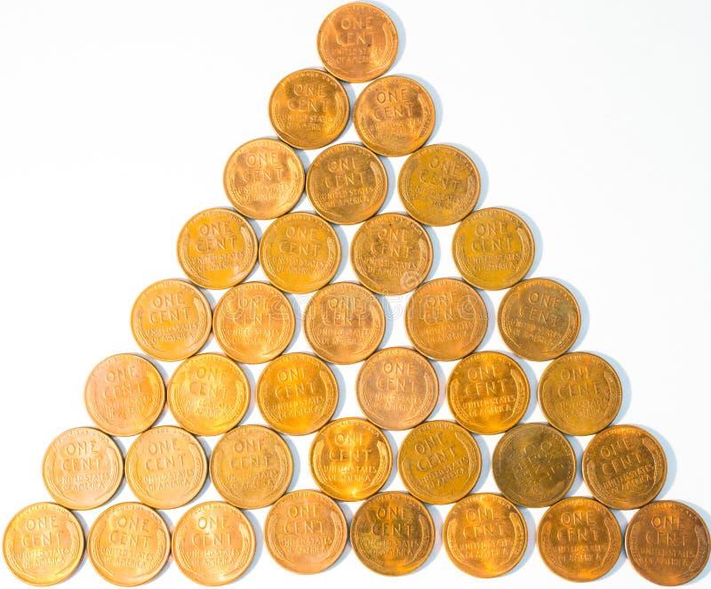 Vieux blé-De retour Lincoln Penny Cents aka Wheaties des Etats-Unis de Menthe-état photographie stock libre de droits
