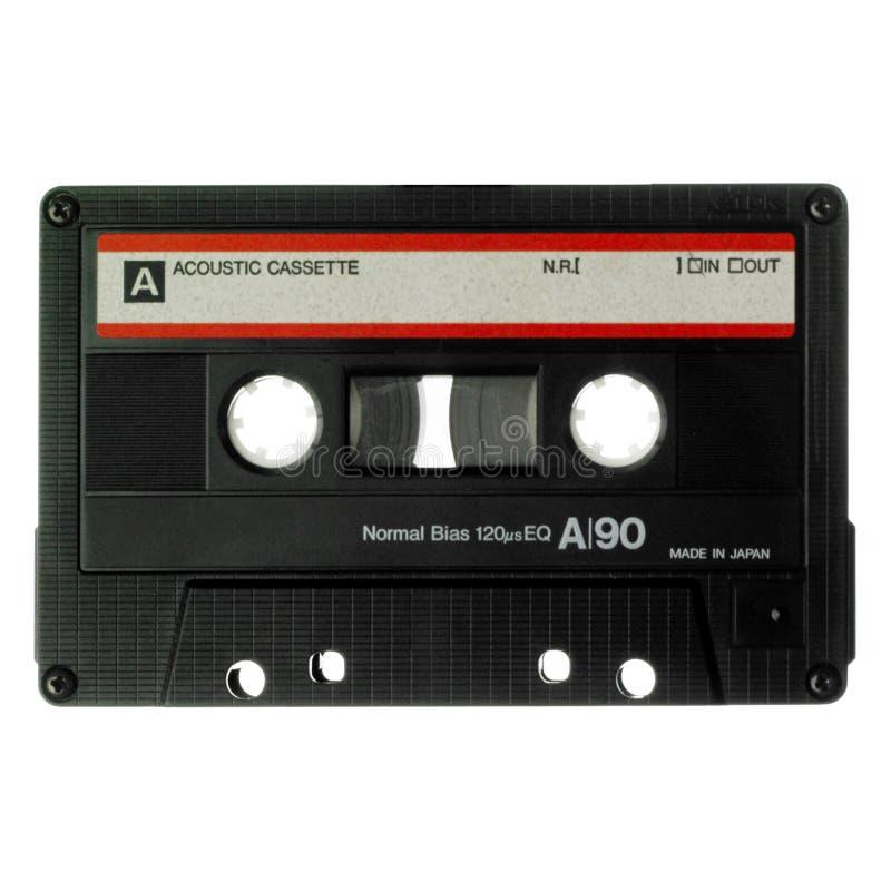 vieux blanc d'isolement par cassette photos stock