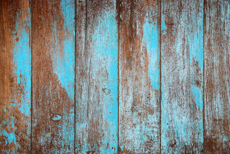 Vieux bleu en bois photo stock