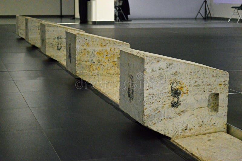 Vieux blocs de plongée à Kosice Kunsthalle Slovaquie photo libre de droits